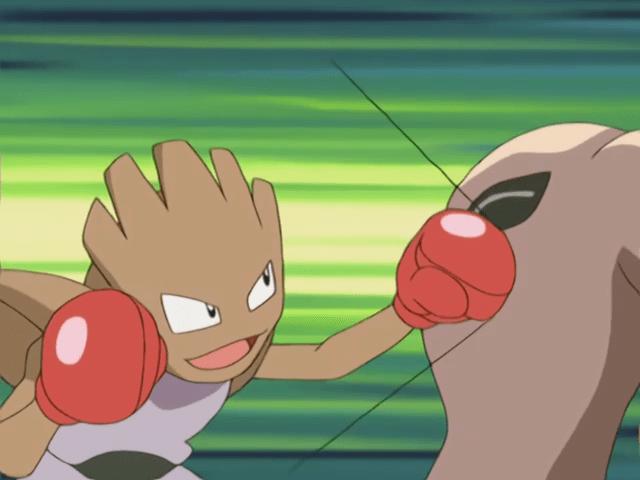 Hitmonchan usando puño cometa.