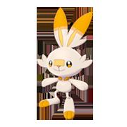Imagen de Scorbunny variocolor en Pokémon Espada y Pokémon Escudo