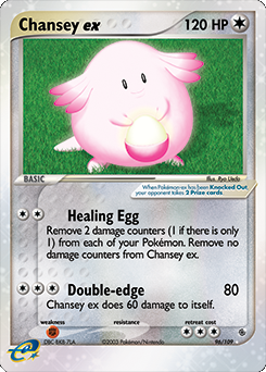 Carta de Chansey ex