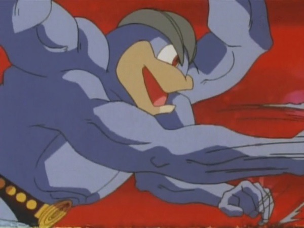 Machamp usando Golpe kárate.