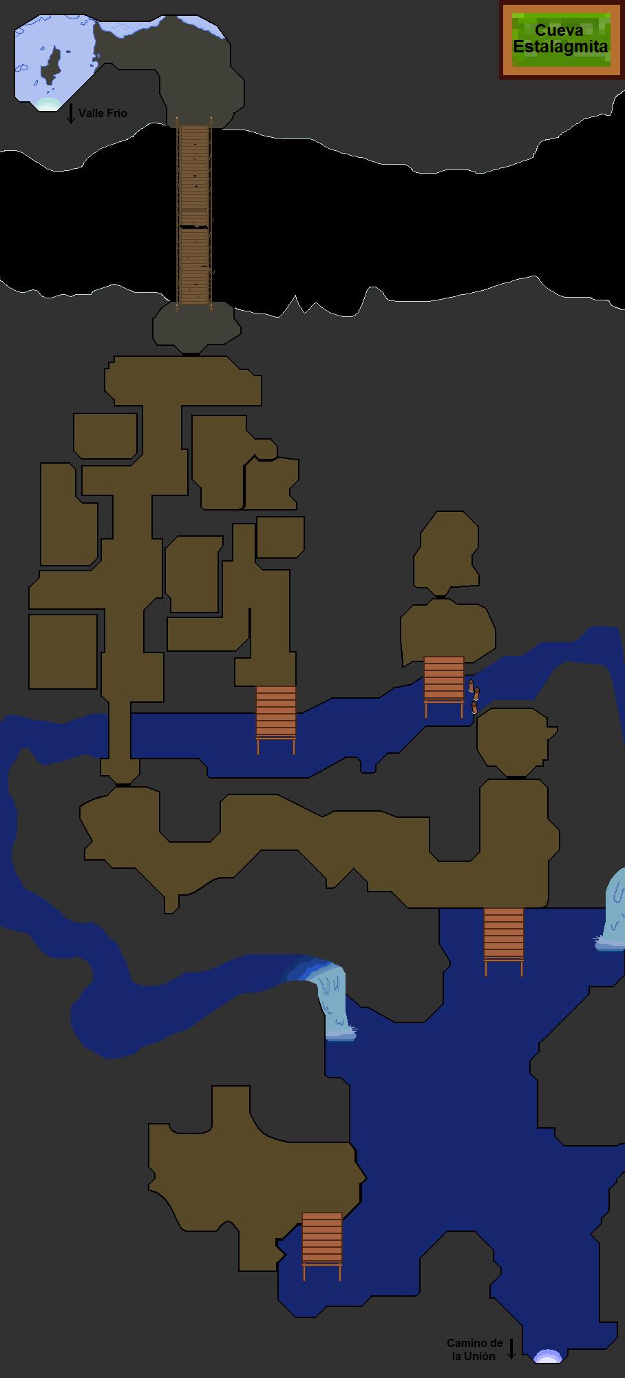 Plano de la Cueva Estalagmita.