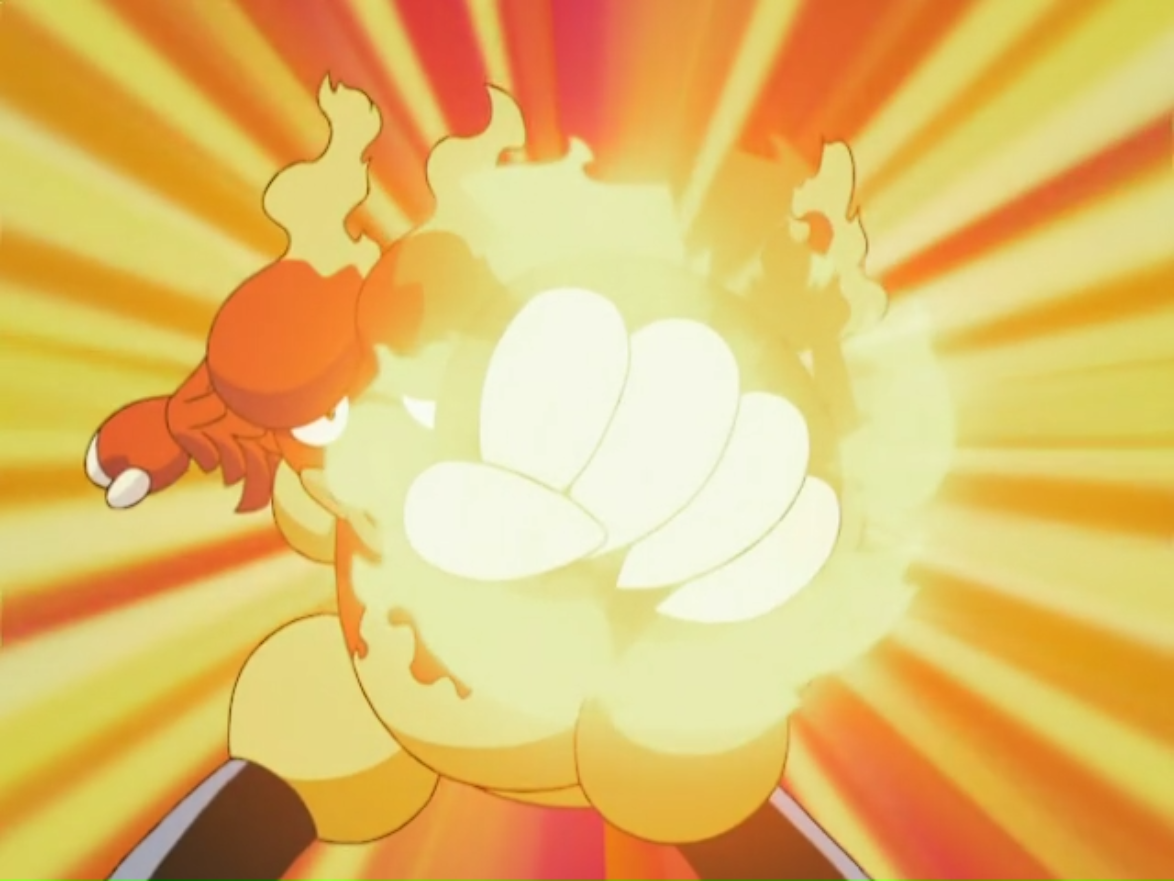 Magmar usando puño fuego.