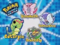 ¿Cuál de estos Pokémon es la última forma evolucionada de Caterpie?