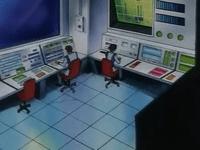 Sala de control de la central de energía.