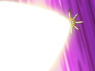 Solrock usando rayo solar