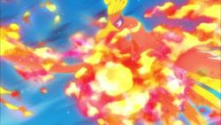 Ho-Oh usando Fuego sagrado.