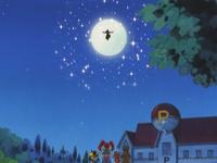 ...haciendo retener el brillo bajo la luna.