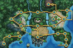 Mapa de imagen de Teselia en Pokemon Negro 2 y Blanco 2.