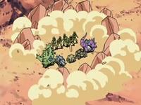 causando que se levanten rocas del suelo acorralando a los Pokémon en un círculo de rocas.
