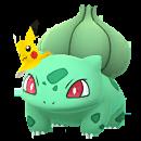 Bulbasaur con gorro de Pikachu