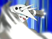 Aggron usando garra metal.