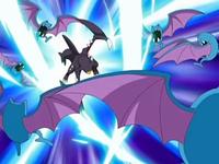 Garchomp usando garra dragón.