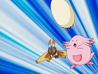 Chansey usando bomba huevo.