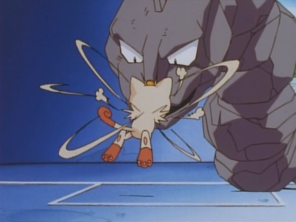 Meowth usando Arañazo.