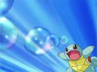 Squirtle usando burbuja.