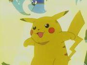 Pikachu usando Impactrueno.