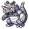 Imagen de Rhydon variocolor en Pokémon Plata