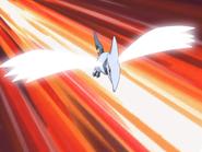 Skarmory usando ala de acero.