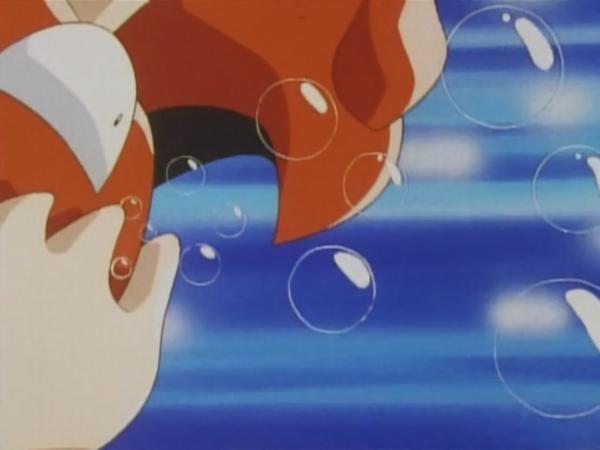 Kingler usando Burbuja.