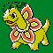 Imagen de Meganium variocolor en Pokémon Plata