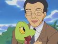 Padre de Stephanie junto a sus Pokémon.