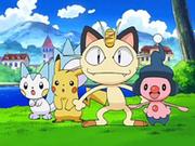 EP572 Meowth, Mime Jr., Pachirisu y Pikachu.png