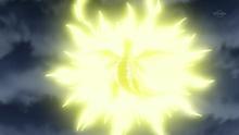 Dragonite afectado por trueno.