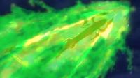 Mega-Rayquaza usando ascenso draco.