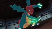 Druddigon usando garra dragón