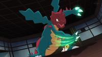 Druddigon usando garra dragón.