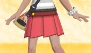 Minifalda Plisada Rojo.png