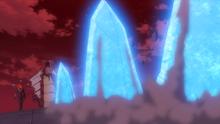Mega-Gyarados usando roca afilada.