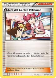 Chica del Centro Pokémon (Destellos de Fuego 93 TCG).png