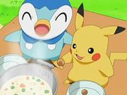 EP543 Piplup y Pikachu comiendo.png