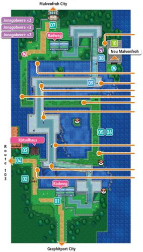 Mapa de la ruta 110