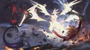 Artwork de Ultra-Necrozma contra Pokémon legendarios.png