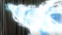 Psyduck usando hidrobomba.