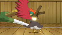 Hawlucha usando golpe kárate.