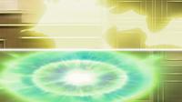 Rayo del Pikachu de Ash (arriba).