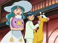 Roman junto a sus Pokémon.