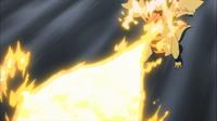 Druddigon de Iris usando dragoaliento.