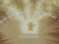 Pikachu de Ash usando trueno.