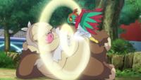 Hawlucha de Ash usando patada salto alta.