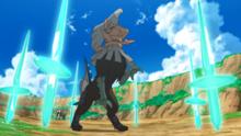 Código Cero usando danza espada.