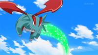 Salamence de Sawyer/Sabino usando cola dragón.