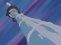 Poliwhirl usando Pistola agua.