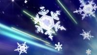 Copos de nieve creados por la combinación.