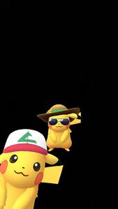 Pikachu con gorra de Ash en Instantánea de GO el 1 de abril.png