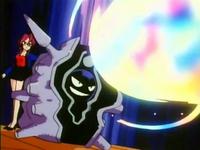 Cloyster usando Rayo aurora.