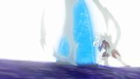 Lycanroc de Gladion/Gladio usando roca afilada.